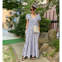 【LONGBEACH】stripe dress(gray)