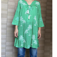 tunique cotton broderie (green)