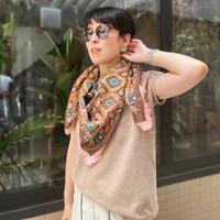 cotton scarf IKAT(choco✖PINK)
