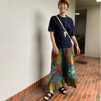 Large waistband maxi dress (tropical)