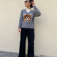 BELAIR ANIMAL KNIT(GRAY)