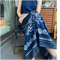 Long Dress with thin strap(Navy)