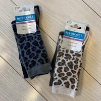 BLEUFORET Chaussettes 2paires(Brown Leopard)