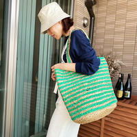 Jute basket (green)