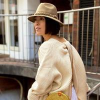 Short brim wool HAT (Beige)