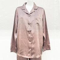 【アウトレット】正絹シルク100%サテンパジャマ 展示品(la sakura)3083 Mサイズ/モカブラウン