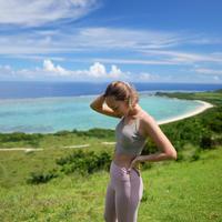 2302CAMI BRA TOP  LONG丈< 海とサンゴを守るSustainble Yoga Wear>受注生産