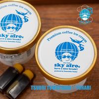 TSUBOI sky afro ice cream / 坪井珈琲アイスクリーム
