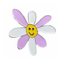 Two Tone Daisy Pin (White/ Lavender)