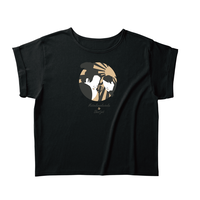 松ジェ 和洋の色恋  ロールアップTシャツ BK