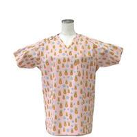 女性用 No.5505 パイナップル(ピンク)      医療用、介護用スクラブシャツ