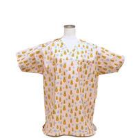 男性用 No.3217   M       パイナップル(ピンク)<5505>医療用、介護用スクラブシャツ
