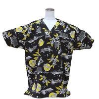 男性用No.3260    L   医療用、介護用スクラブシャツ  No.3260ハワイアン月夜