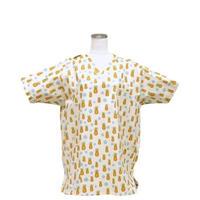男性用 No.3215     M         パイナップル(白) <5502>        医療用、介護用スクラブシャツ