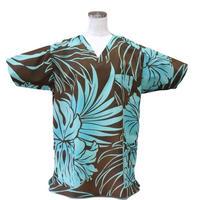 男性用No.3267    M   医療用、介護用スクラブシャツNo.3267 ハワイアン5578