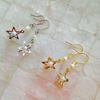 【Lagomt】オリジナルピアス<Star>Gold/Silver
