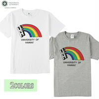 送料無料 HAWAI'I Tシャツ メンズ レディース HWUS-025 6.2oz ヘビーウエイト ハワイ カレッジ ロゴ オープンエンドTシャツ アメカジ