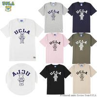 送料無料 UCLA (ユーシーエルエー) Tシャツ メンズ レディース UCLA-0436 6.2oz ヘビーウエイト カレッジ ロゴ オープンエンドTシャツ アメカジ