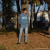 [UCLA-0237] UCLA フーデッドライトインディゴパーカー