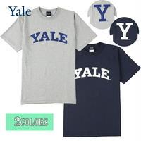 送料無料 YALE (イェール) Tシャツ メンズ レディース YALE-036 6.2oz ヘビーウエイト ロゴ オープンエンドTシャツ アメカジ