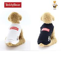 送料無料 TEDDY BEAR (テディベア) 犬服 Tシャツ BOXロゴ スケーター Tee ドッグウエア TDBR-031 カレッジ アメカジ