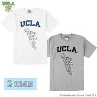 送料無料 UCLA (ユーシーエルエー) Tシャツ メンズ レディース UCLA-0464 6.2oz ヘビーウエイト カレッジ ロゴ オープンエンドTシャツ アメカジ