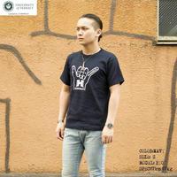 送料無料 SALE 50%OFF HAWAI'I Tシャツ メンズ レディース HWUS-010 6.2oz ヘビーウエイト ハワイ ハングルース カレッジ ロゴ  アメカジ