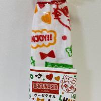 【ラグナシア限定】ガーゼミニタオル(赤)