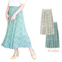 花柄プリーツスカート