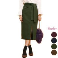 リボン付き スリットスカート