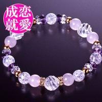 天然石 パワーストーン 全体・恋愛運他◆エナジー水晶ブレスレット HR◆4556