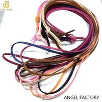 スエード合皮製 カラフルロングネックレス 90cm 13カラー◆ANGEL FACTORY lalalady-113