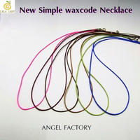 ネックレス Simple WAXコード 1mm幅 6カラー ANGEL FACTORY◆lalalady-31