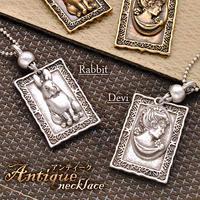 ネックレス◆選べるユニセックスネック うさぎ・女神モチーフの額縁付◆KAVY0351