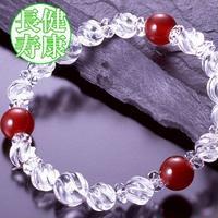 天然石 パワーストーン 全体・健康運他◆トルネード水晶ブレスレット HR◆4175