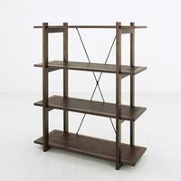 家具 収納 本棚 ラック◆アジアンバンブー シェルフ4段◆bl0974