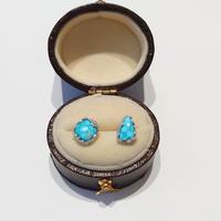 20P88 SV(Rh) Earrings (Turquoise)
