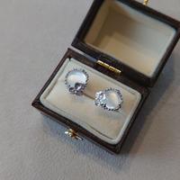21P65 SV(Rh) Earrings ( Moonstone)