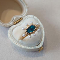 21R28 Silver(K18Gp) Ring (Black opal)