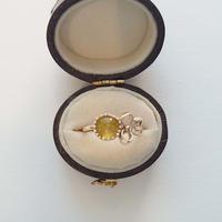 1610R45 K10 Ring (Yellow tourmaline)