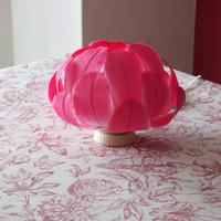 マゼンタの花/テーブルランプ