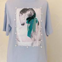 womenパールリボンTシャツ♡