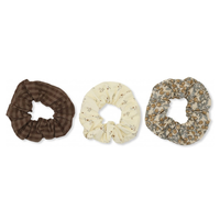 【kongessloejd 】SCRUNCHIES SMALL MULCH 3set