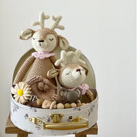 限定5set【babytoly 】fawn rattle &doll set