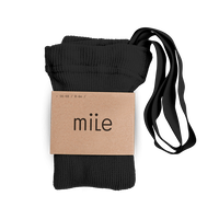 【mile】cotton tights with braces/black