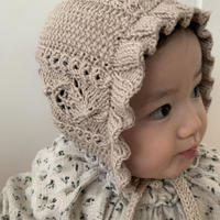 【babytoly】rococo bonnet/  natural・beige