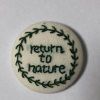 手作り刺繍月桂樹のバッジ(return to nature)No.002