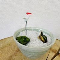 鶴と亀の石庭(緑) O-07