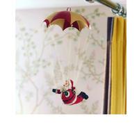 SANTA W/PARACHUTE RED/GOLD 空飛ぶサンタクロース