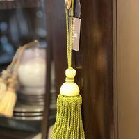 "Houles key tassel ""Oceanie"" yellowish green"